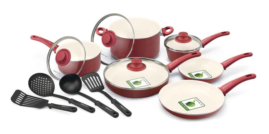 GreenLife 14 Piece Nonstick Ceramic Cookware Set