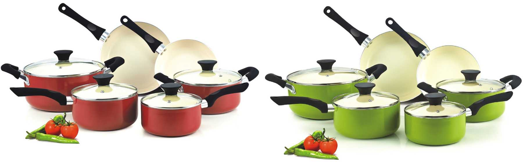 cook n home nc 00359 nonstick ceramic coating colorful