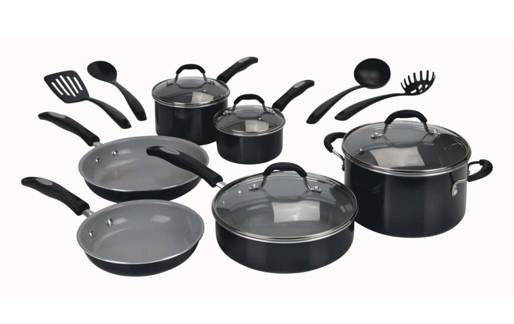 cuisinart 14 piece ceramic nonstick cookware set