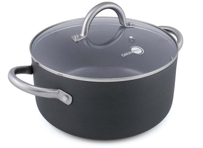 GreenPan 12 Piece Lima Hard Anodized Nonstick Ceramic Cookware Set Sauce pan
