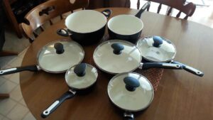GreenPan 12 Piece Rio Ceramic Non-Stick Cookware Set Black harmful chemical free