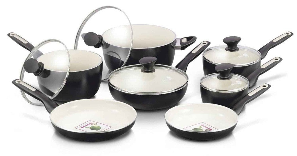 GreenPan 12 Piece Rio Ceramic Non-Stick Cookware Set Black