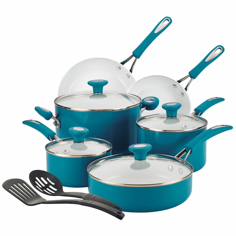 SilverStone Ceramic CXi Nonstick 12 Piece Cookware Set
