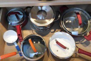 WearEver C943SF Pure Living Nonstick Ceramic Cookware set lid use