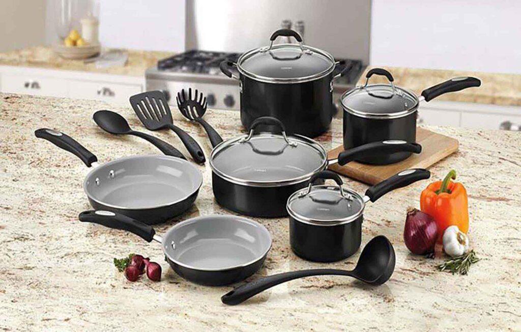 cuisinart 14 piece ceramic nonstick tips for using