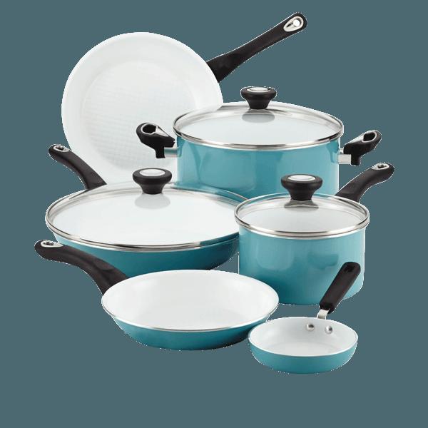 Farberware Purecook Ceramic Nonstick Cookware 12 Piece Cookware Set