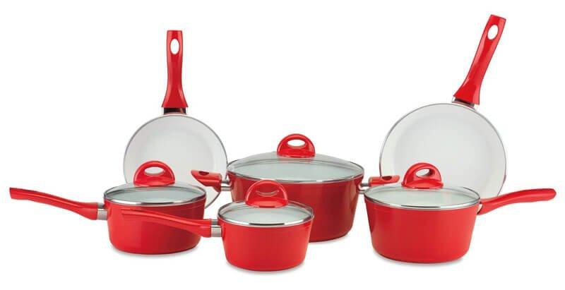 Cerastone PFS1023 10-Piece Ceramic Nonstick Cookware Set