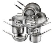 T Fal E469sc Tri Ply Stainless Steel Multi Clad Cookware Set