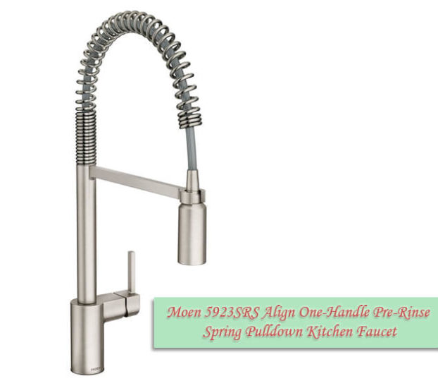 pulldown kitchen faucet spot resist stainless moen 5923srs align 01