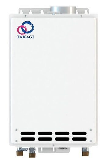 Takagi t kjr2 in ng indoor water heater for Best tankless water heater for 2 bathroom homes