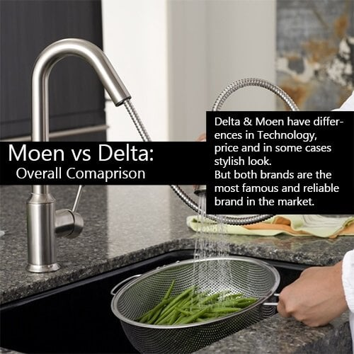 Kitchen Faucet Brand Moen Vs Delta Overall Comparison - Most reliable kitchen faucet brand