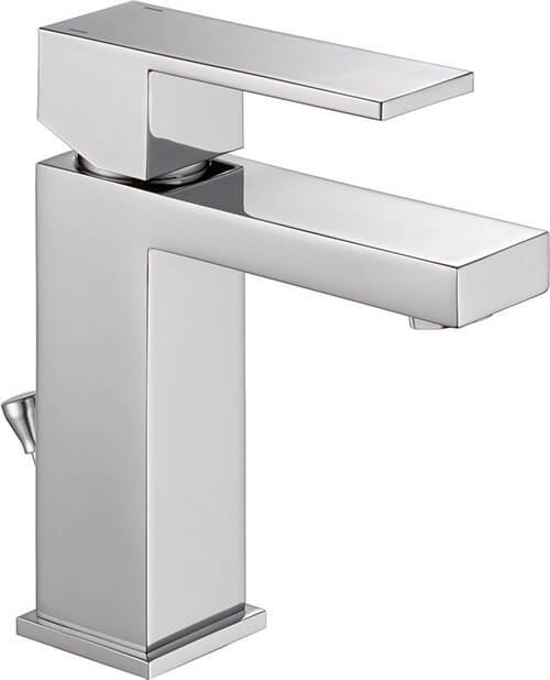 Delta Modern Single-Handle Bathroom Faucet with Drain Assembly, Chrome 567LF-PP
