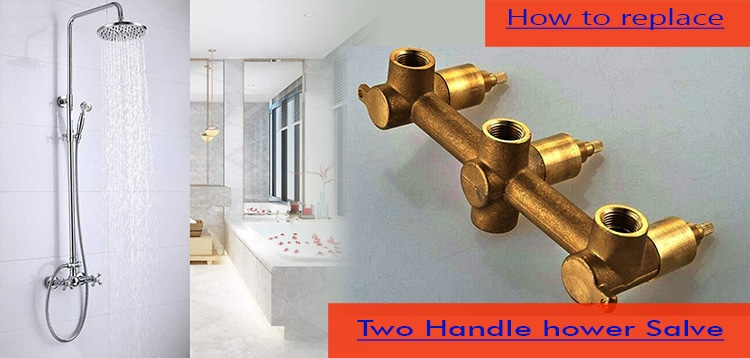 How to replace two handle shower valve
